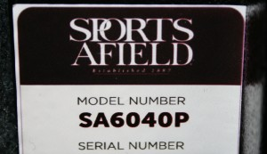 Gun safe model number